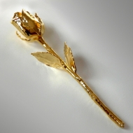 Trauringe Platin Goldrose 16cm - Vergoldete Rose